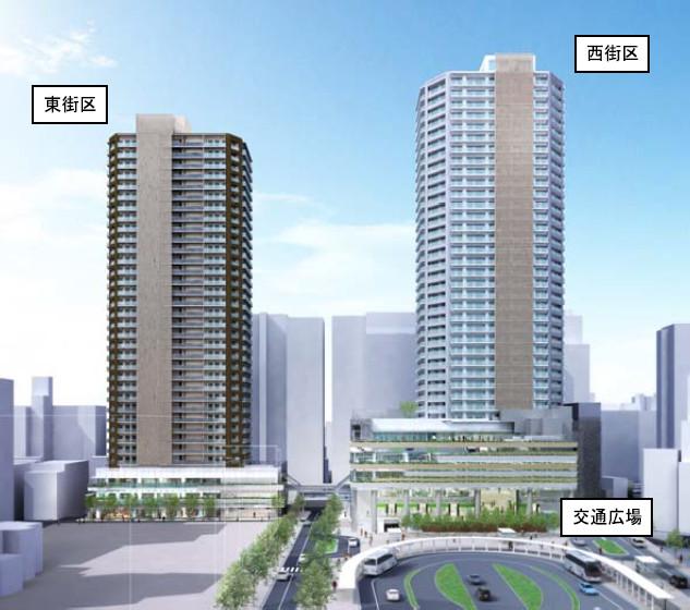 国分寺駅北口ツインタワー完成予想図20171130