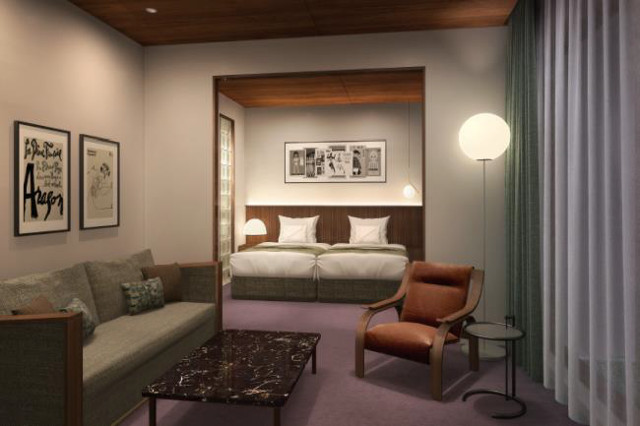 北青山二丁目計画仮称ホテル客室イメージ20171212