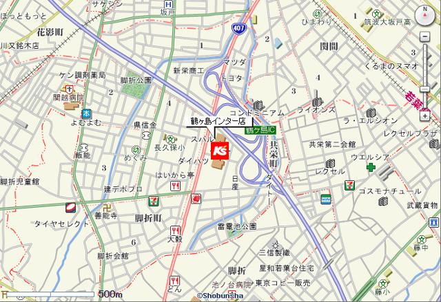 ケーズデンキ鶴ヶ島インター店地図20171209