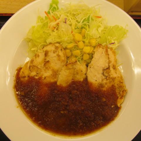 松屋鶏ささみステーキ定食2017大盛賞味サムネイル