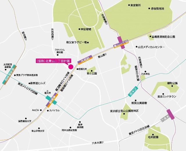 北青山二丁目計画仮称地図20171212