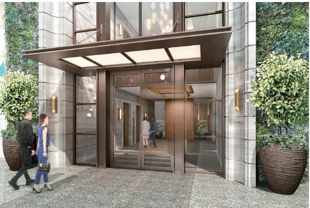 北青山二丁目計画仮称ホテルエントランスイメージ20171212
