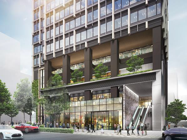 北青山二丁目計画仮称建物低層外観イメージ20171212