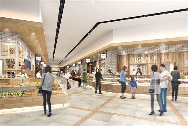 1階 とこマルシェ食物販ゾーン(イメージ)