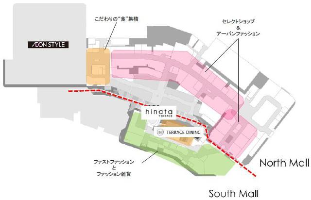 イオンモール宮崎増床リニューアル1階フロアマップ20180111