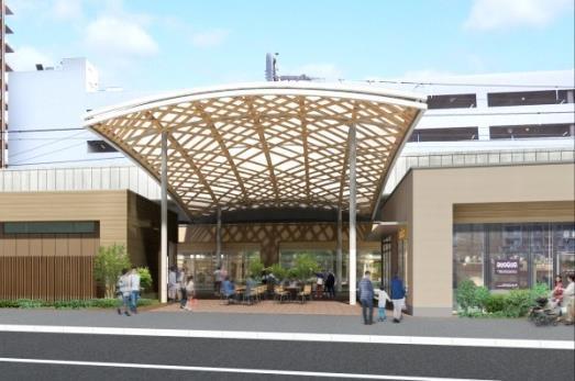 ムサコガーデンイベントスペースと大屋根イメージ20180120
