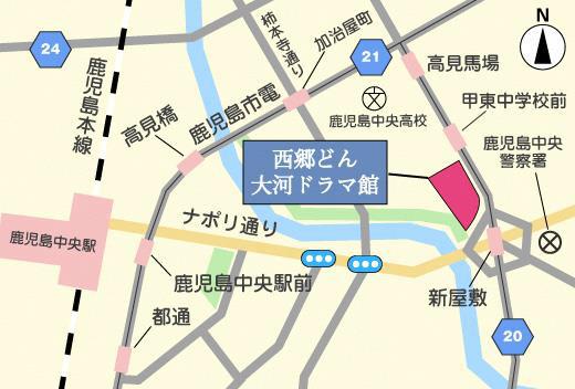 西郷どん大河ドラマ館地図20180114