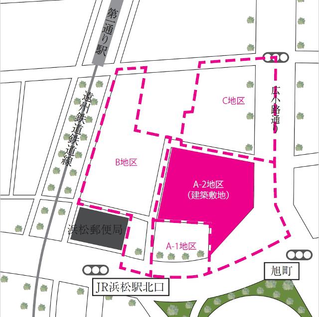 浜松駅北口一条タワマン地図20180108