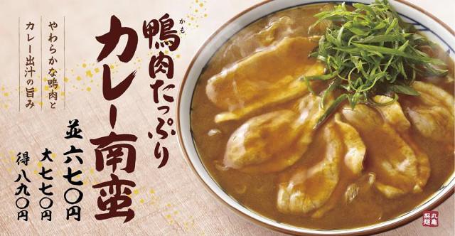 丸亀製麺鴨カレー南蛮チラシ画像20180123