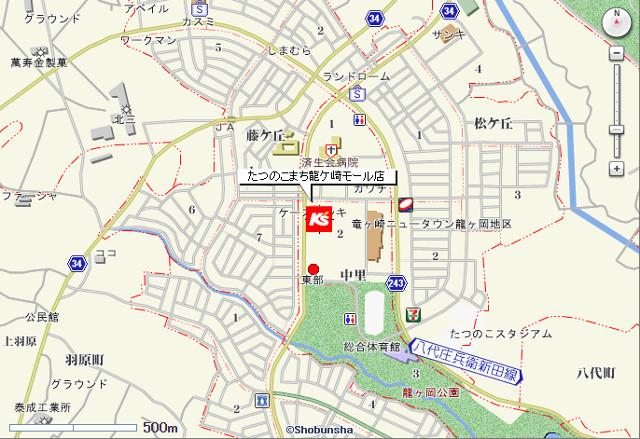 ケーズデンキたつのこまち龍ケ崎モール店地図20180113