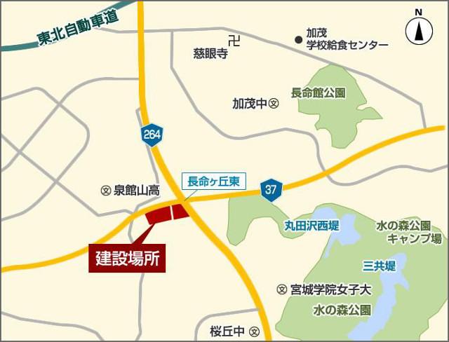 ブランチ仙台長命ヶ丘仮称地図20180118