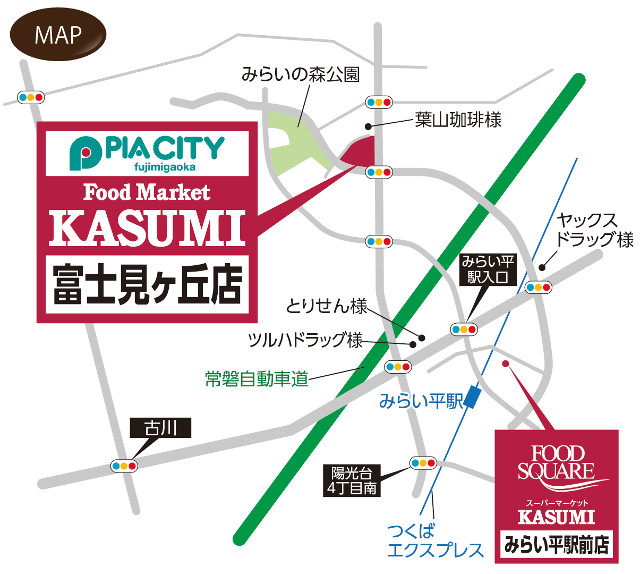 フードマーケットカスミ富士見ヶ丘店地図20180223