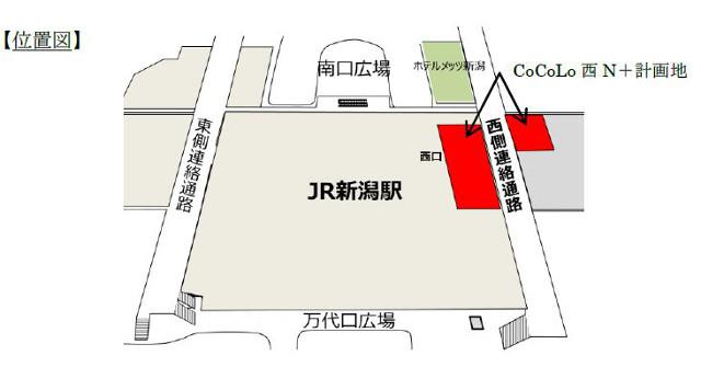 新潟駅ココロニシエヌプラス地図20180224