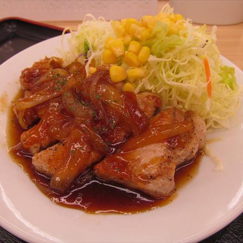 松屋厚切りポークステーキ定食2018大盛賞味サムネイル