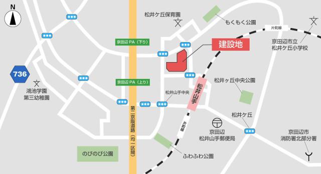 ブランチ松井山手地図20180321