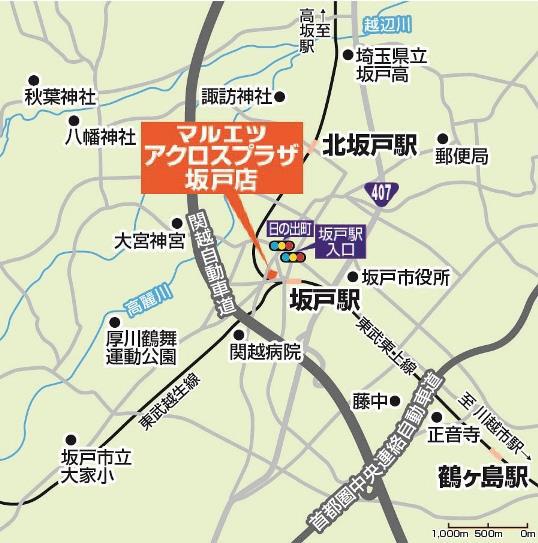 マルエツ_アクロスプラザ坂戸店_地図20180325