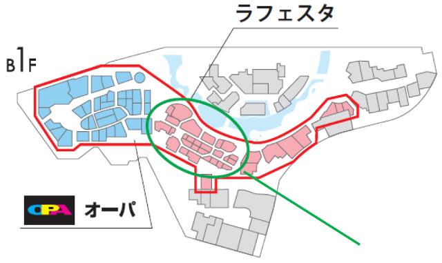 キャナルシティ博多地下1階フロアマップ20180303