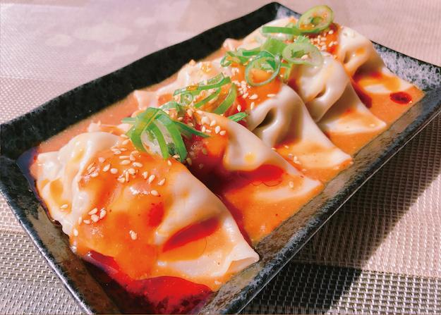 餃子フェスOSAKA2018GW_餃子の宮でんでん_小江戸黒豚胡麻担々水餃子20180404