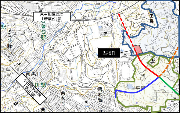 稲城小田良ショッピングセンター仮称周辺地図20180319