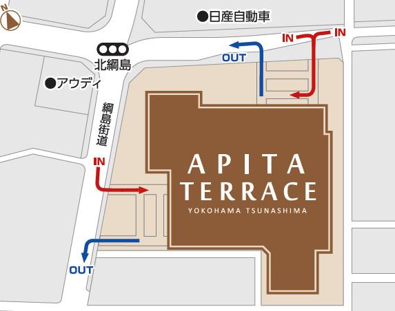 アピタテラス横浜綱島周辺地図20180309