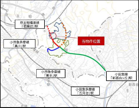 稲城小田良ショッピングセンター仮称広域地図20180319