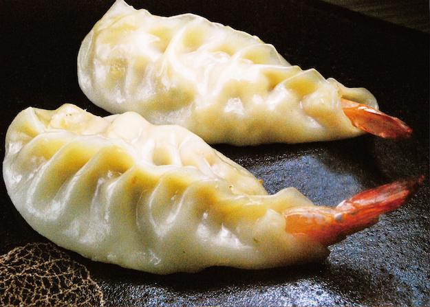 餃子フェスOSAKA2018GW_京都威厨_えび餃子_秘伝九条ネギラー油がけ20180404
