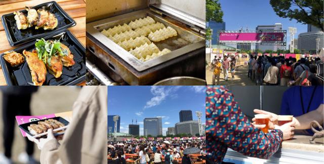 餃子フェス大阪2018GW前年の様子コラージュ20180302