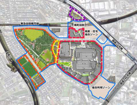南町田グランベリーパーク全体イメージ地図20180322