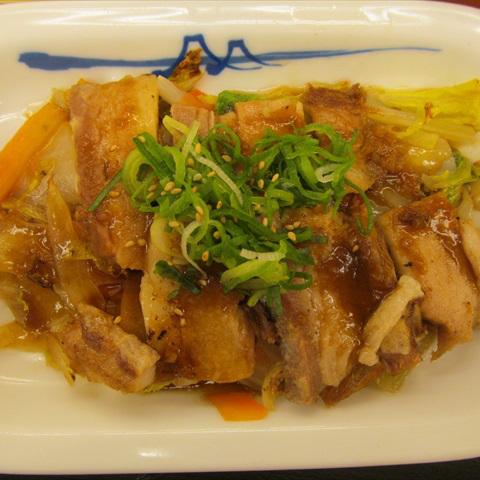 松屋ふわとろ豚と温野菜定食2018大盛賞味サムネイル