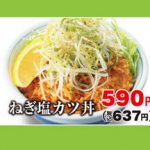 かつやねぎ塩カツ丼and定食2018販売開始予告サムネイル