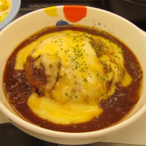 松屋ブラウンソースチーズハンバーグ定食2018大盛賞味サムネイル