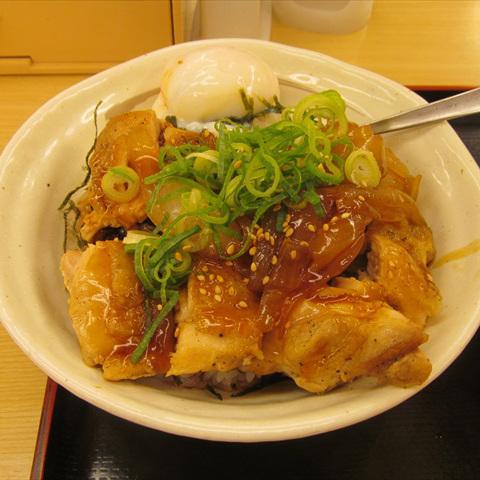 松屋ごろごろチキンのてりたま丼2018大盛賞味サムネイル