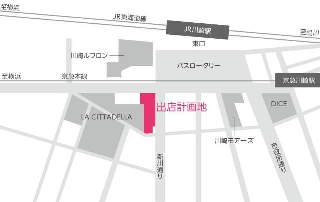 川崎ゼロゲート仮称地図20180411