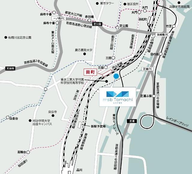 ムスブ田町周辺地図20180430