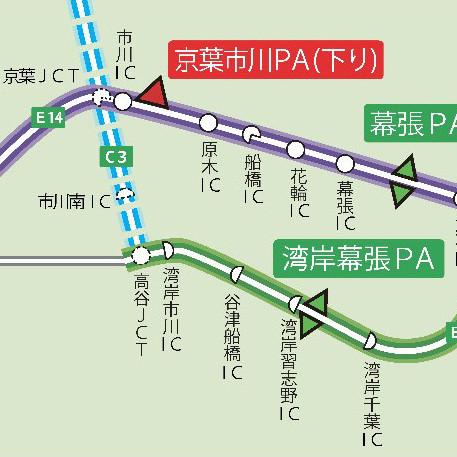京葉市川PA下り線オープンサムネイル