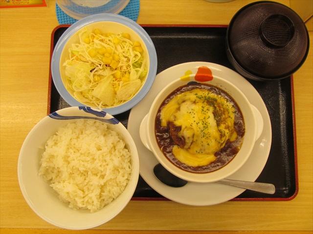 matsuya_brown_sauce_cheese_hamburg_set_meal_20180424_024