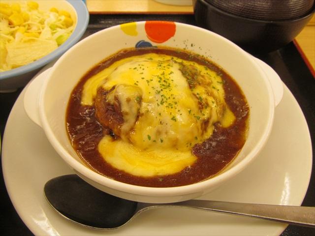 matsuya_brown_sauce_cheese_hamburg_set_meal_20180424_026