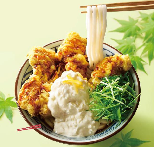 丸亀製麺タル鶏天ぶっかけ2018切り抜き画像20180522