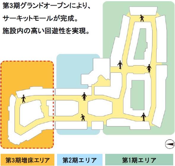 三井アウトレットパーク木更津第3期オープン後の施設内マップ20180530