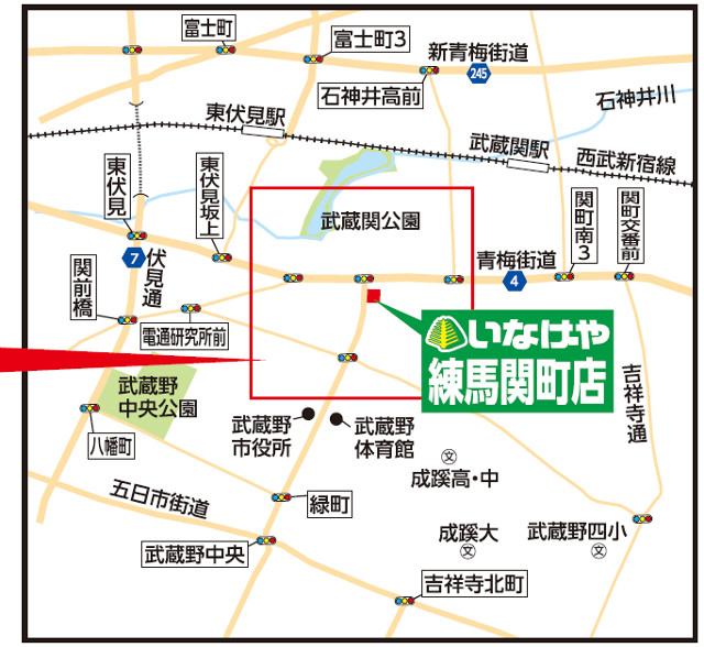 いなげや練馬関町店広域地図20180519
