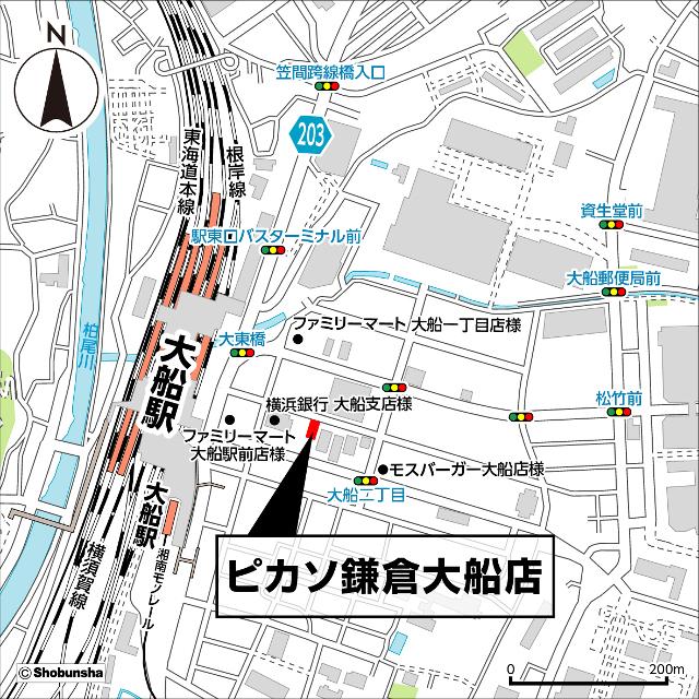 ピカソ鎌倉大船店地図20180531