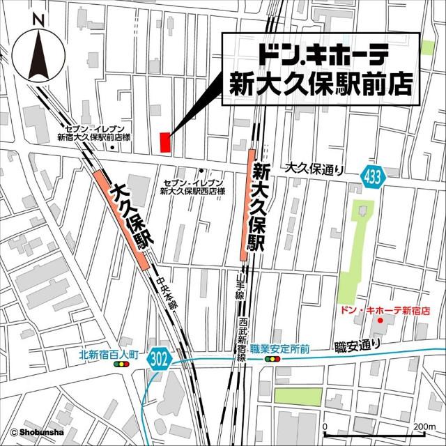 ドンキホーテ新大久保駅前店地図20180516