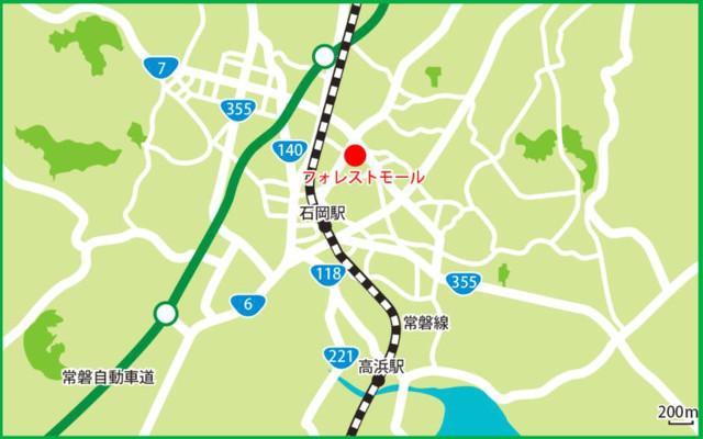 フォレストモール石岡広域地図20180624