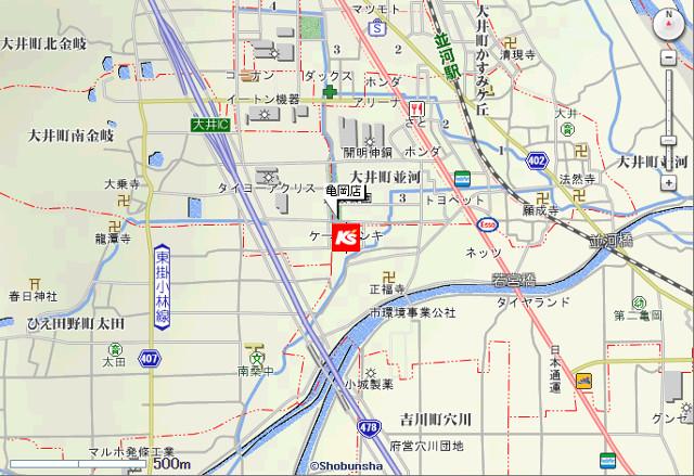 ケーズデンキ亀岡店地図20180602