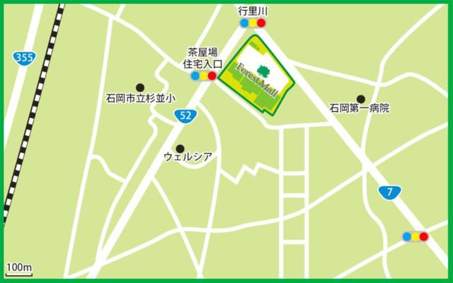 フォレストモール石岡周辺地図20180624