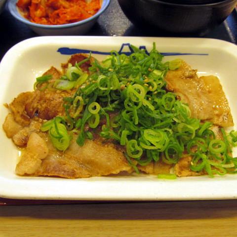 松屋ネギだく塩ダレ豚カルビ定食2018大盛賞味サムネイル自動調整後
