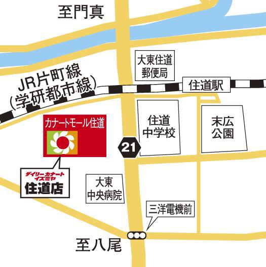 カナートモール住道_地図20180717
