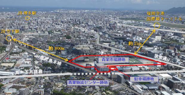 ららぽーと福岡博多_位置図_鳥瞰写真20180719