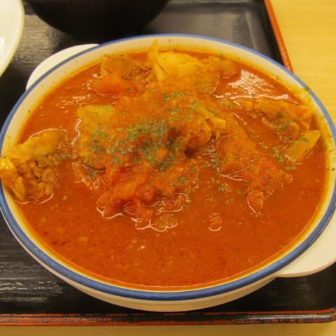 松屋ごろごろチキンのトマトカレー2018大盛賞味サムネイル