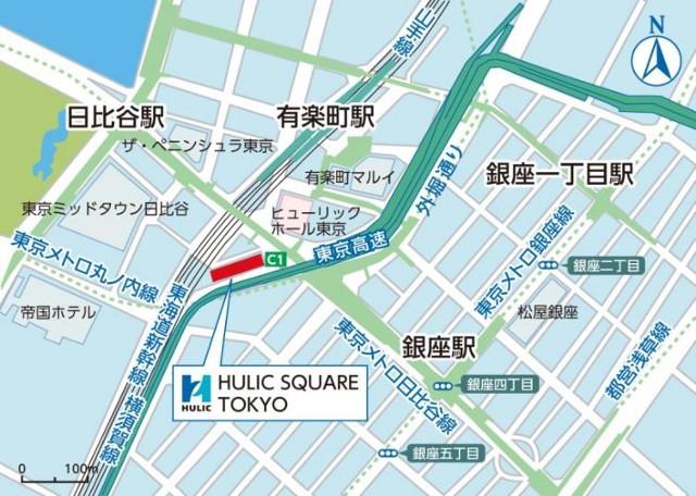 ヒューリックスクエア東京地図20180719